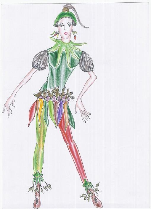 รับออกแบบเสื้อผ้าแฟชั่น ชุดแฟนซีชุดนี้ชื่อ พริกพริก