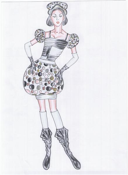รับออกแบบเสื้อผ้าแฟชั่น ชุดแฟนซีชุดนี้ชื่อ The sun flower
